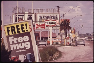 Free Mug, Billboards and Advertising Clutter Roadside, 1972