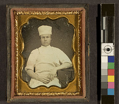 Portrait of unidentified man in baker's/chef's uniform, ca. 1855